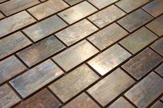 Love it- Medium Brick Antique Copper Mosaic Tile - traditional - kitchen tile - Eden Mosaic Tile Traditional Kitchen Tiles, Contemporary Kitchen Tiles, Modern Contemporary, Kitchen Flooring, Kitchen Backsplash, Backsplash Ideas, Tile Ideas, Kitchen Appliances, Copper Tile Backsplash