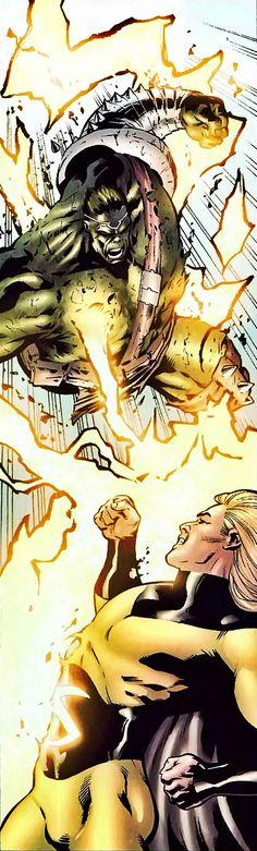 Sentry (Robert Reynolds) vs. Hulk (Dr. Bruce Banner) (Green Scar persona) | art by Leonard Kirk