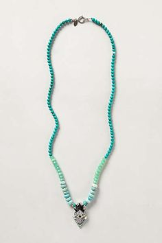 Anthropologie - Nomad Necklace-part of the pic appears to be cut off but love the color. Thinking might be able to do something similar with the rolled turquoise beads-have to find other beads to incorporate the other colors. Looks like summer to me.