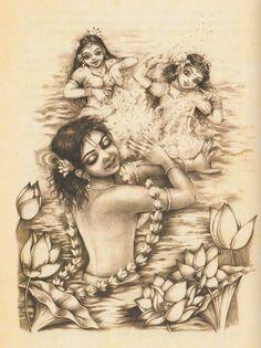 Krishna Gopis water