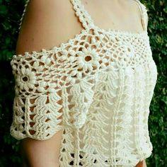 Tutorial 130 Blusa de Encaje Paso a Paso CTejidas Crochet y Dos Agujas imágenes - Frases y Pensamientos