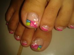 French Manicure Toes, Pedicure Nail Art, Pedicure Designs, Toe Nail Art, French Nails, Pedicure Ideas, Pretty Pedicures, Pretty Toe Nails, Feet Nail Design