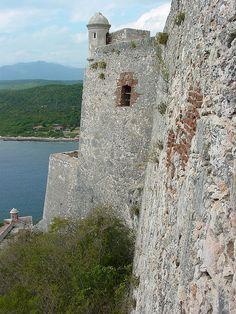 Castle Walls, Castillo de San Pedro del Morro, near Santiago de Cuba, Cuba