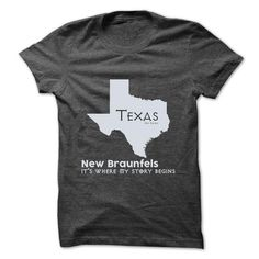 New Braunfels - Texas - Its Where My Story Begins ! Ver - #sweatshirt embroidery #grey sweater. SECURE CHECKOUT => https://www.sunfrog.com/States/New-Braunfels--Texas--Its-Where-My-Story-Begins-Ver-2.html?68278