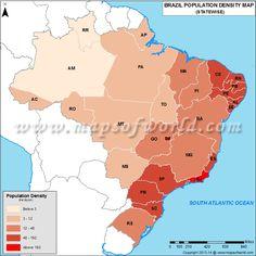 Brazil Population Density Map