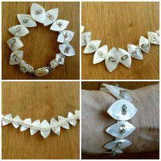 Midcentury Mother of Pearl Bracelet 1940-1950's by GrandmasDowry