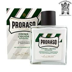 Proraso Menthol and Eucalyptus Liquid Cream Aftershave Balm Shaving & Grooming, Shaving Soap, Shaving Cream, After Shave Cream, After Shave Balm, Barber Accessories, Dry Face, Eucalyptus Oil, New Green