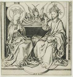 Martin Schongauer. Christ and Mary. c. 1450/1491. Staatliche Kunstsammlungen Dresden. Dresden, Germany. Bildindex der Kunst und Architektur.