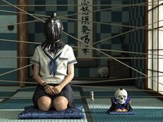 horror art | Japanese school girls take on a disturbing new look in these ...