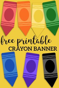 Free Printable Back to School Banner Crayons is part of Classroom Organization Crayons - Free Printable Back to School Banner Crayons Crayons for bulletin board decorations, crayon banner classroom decor or classroom door crayon theme Crayon Bulletin Boards, Kindergarten Bulletin Boards, Birthday Bulletin Boards, Back To School Bulletin Boards, Classroom Bulletin Boards, In Kindergarten, Preschool Birthday Board, Crayon Themed Classroom, September Bulletin Boards