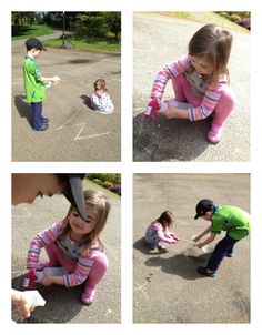 Sidewalk Chalk – 4 Letter Activities - Pinned by @PediaStaff – Please Visit ht.ly/63sNtfor all our pediatric therapy pins