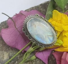 Delicate Jewelry, Unique Jewelry, Bridal Party Jewelry, Rainbow Moonstone Ring, Valentines Jewelry, Handmade Rings, Victorian Jewelry, 925 Silver, Silver Ring