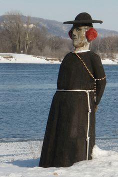 Statue with earmuffs in Wabasha, Minnesota