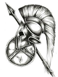 Spartan Warrior Tattoo Design Shared by Cameron Buford