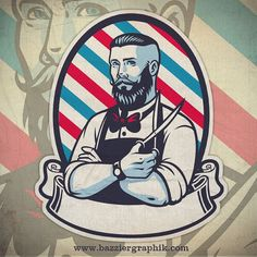 Illustration about Vector of retro illustration of barber man. Illustration of retro, scissors, ornament - 56089586 Barber Shop Pole, Barber Shop Decor, Barber Man, Barber Logo, Barber Chair, Hair And Beard Styles, Long Hair Styles, Barbershop Design, Retro Illustration