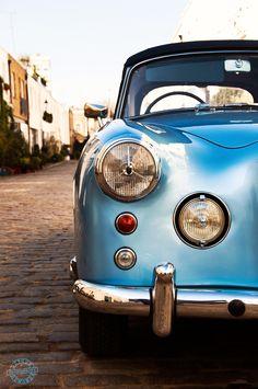 pinterest.com/fra411 #classic #car - Blue Alvis convertible in London