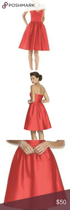 Alfred Sung Firecracker Dress Stunning metallic material. Sometimes this dress is used for a bridesmaids dress. But the sparkle of the red would be amazing for Christmas. Alfred Sung Dresses