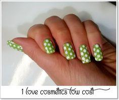I Love Cosmetics Low Cost : La Nailart della settimana... green and white