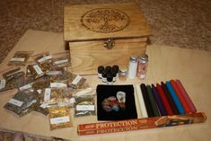 Witches, Tree of Life Starter Box , Witches Spell Box,Altar Kit,Wiccan Herbs