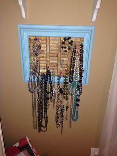 Cork board jewelry hanger