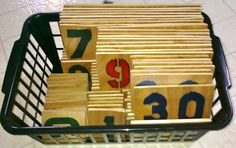 DIY Large Montessori Number Cards - Mama of Many Blessings