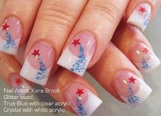 4th of July nail art by marcy
