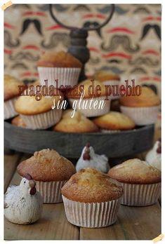 Magdalenas de pueblo sin gluten {by Paula, Con las Zarpas en la Masa}