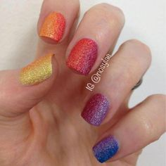 Rainbow Ombre with textured polish