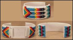 Armbänder Loom Bracelet Patterns, Bead Loom Patterns, Loom Bracelets, Beading Ideas, Beading Tutorials, Beaded Watches, Indian Beadwork, Loom Beading, Beaded Flowers