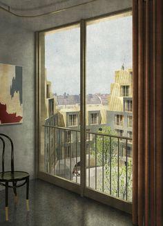 Sergison Bates . Haidhausen housing . Munich. Competition 1st prize