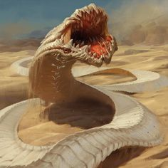 Jeu : Magic the Gathering / Convergence des guivres des sables  by Slawomir Maniak   / http://gatherer.wizards.com/Pages/Card/Details.aspx?multiverseid=427692&part=Sandwurm+Convergence