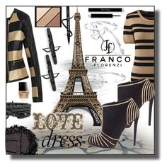 """""""Two Tone Dress with Franco Florenzi"""" by sabine-713 ❤ liked on Polyvore featuring Lands' End, Novara, Sergio Rossi, Butter London, Elizabeth Arden and Urban Decay"""