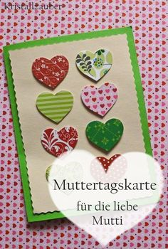 Kristallzauber: {DIY} Muttertagskarte