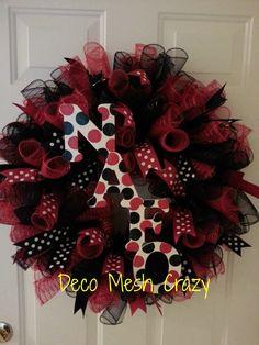 Nation Ford High School, Fort Mill, SC Deco Mesh Wreath- http://www.facebook.com/decomeshcrazy