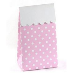 Favor Boxes - Light Pink Polka Dot - Large for $14.99 per dozen from The TomKat Studio Party Shop