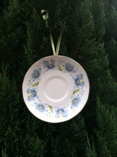 Blue Flowered Queen Anne China Christmas by VickiAnnCreations, $10.00