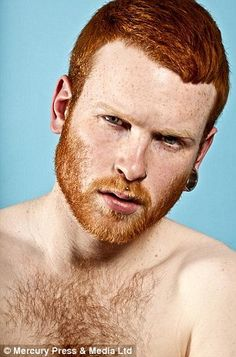 Red Hot is a groundbreaking stills and video exhibition that celebrates red-haired male beauty while attempting to reverse the stigmas attached to ginger men across the UK. Taking place at the Gallery. Hot Ginger Men, Ginger Boy, Ginger Beard, Ginger Hair, Gorgeous Redhead, Beautiful Men, Hairy Men, Bearded Men, Sexy Bart