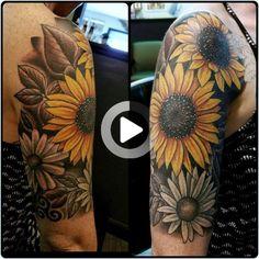 half sleeve tattoo themes – tattoos for women half sleeve Sunflower Tattoo Shoulder, Sunflower Tattoo Small, Sunflower Tattoos, Sunflower Tattoo Design, Tattoo On, Up Tattoos, Body Art Tattoos, Wrist Tattoos, Cool Tattoos