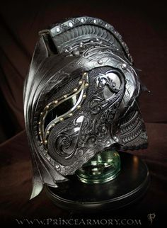 Dragon Crusader Helmet by Azmal costume cosplay LARP | NOT OUR ART - Please click artwork for source | WRITING INSPIRATION for Dungeons and Dragons DND Pathfinder PFRPG Warhammer 40k Star Wars Shadowrun Call of Cthulhu and other d20 roleplaying fantasy science fiction scifi horror location equipment monster character game design | Create your own RPG Books w/ www.rpgbard.com (scheduled via…