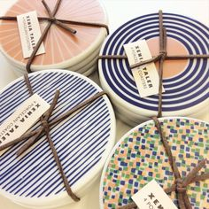 Porcelain Coaster Set #ceramics #coasters