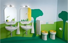 Colorful and Fun Kids Bathroom Ideas - Home and Garden Design Ideas