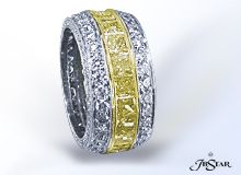Eternity Canary and White Diamonds in Platinum