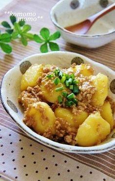 ◆じゃがいもと挽き肉のそぼろ煮◆