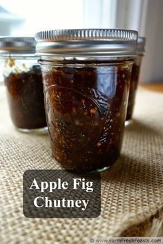 Apple Fig Chutney--a tangy condiment made with locally-foraged fruit ...