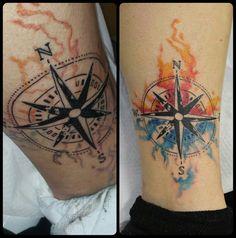 Compass Watercolor.