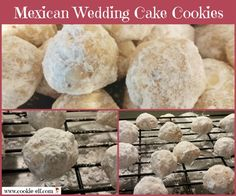 Mexican Wedding Cookies Recipe: Not Just for Weddings Mexican Wedding Cake Cookies from The Cookie Elf Mexican Wedding Cake Recipe, Mexican Wedding Cake Cookies, Italian Wedding Cookies, Mexican Cookies, Russian Tea Cookies, Russian Tea Cake, Molded Cookie Recipe, Traditional Christmas Cookies, Elegant Cookies