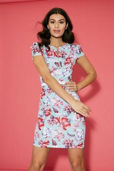 Pistachio Womens Cross Over V-Neck Knee Length Ladies Strappy Summer Midi Dress