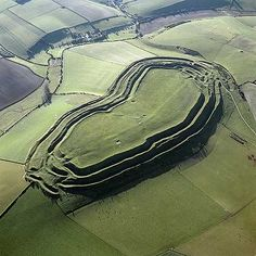 Arial view of Maiden Castle, Dorset