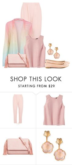 """""""Spring/ Summer Sweater"""" by sjlew ❤ liked on Polyvore featuring Chloé, Banana Republic, KoKo Couture, Pasquale Bruni and Sam Edelman"""