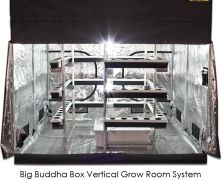 Big Buddha Box x Vertical Hydroponic Grow Room with Gorilla Grow Tent Vertical Hydroponics, Hydroponic Grow Systems, Hydroponics System, Hydroponic Gardening, Hydroponic Growing, Indoor Gardening, Gardening Tips, Weed Plants, Grow Boxes